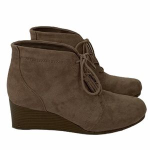 Dr. Scholl's Shoes - Dr. Scholl's Kayman Taupe Wedge Booties Size 9